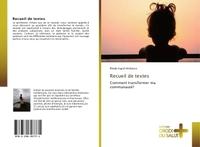 RECUEIL DE TEXTES