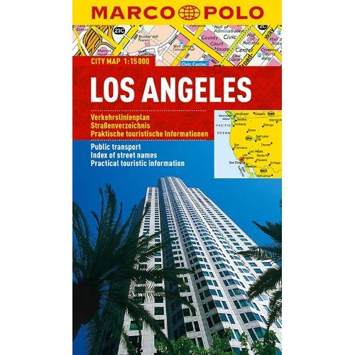 PLAN DE VILLE LOS ANGELES 1:150000