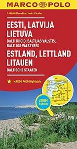 ESTONIE LETTONIE LITUANIE 1 : 800 000