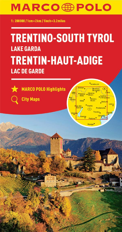 TRENTIN-HAUT-ADIGE : LAC DE GARDE 1 : 200 000
