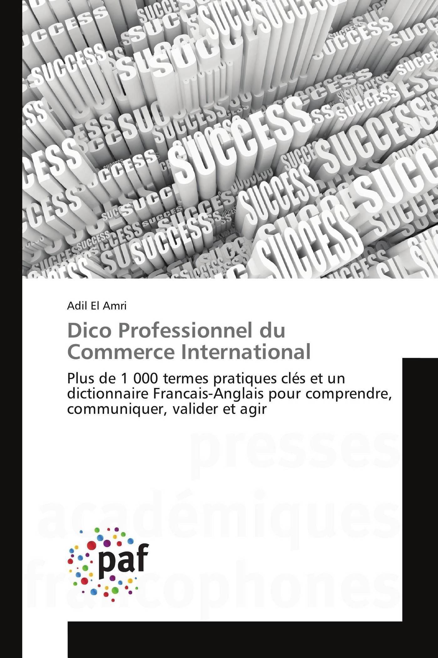 DICO PROFESSIONNEL DU COMMERCE INTERNATIONAL