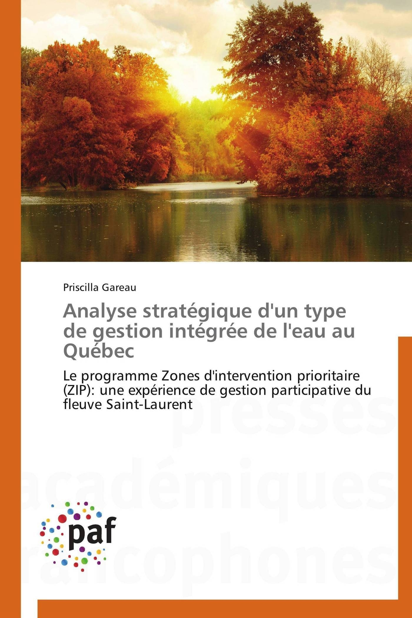 ANALYSE STRATEGIQUE D'UN TYPE DE GESTION INTEGREE DE L'EAU AU QUEBEC