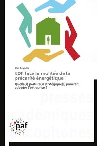 EDF FACE LA MONTEE DE LA PRECARITE ENERGETIQUE