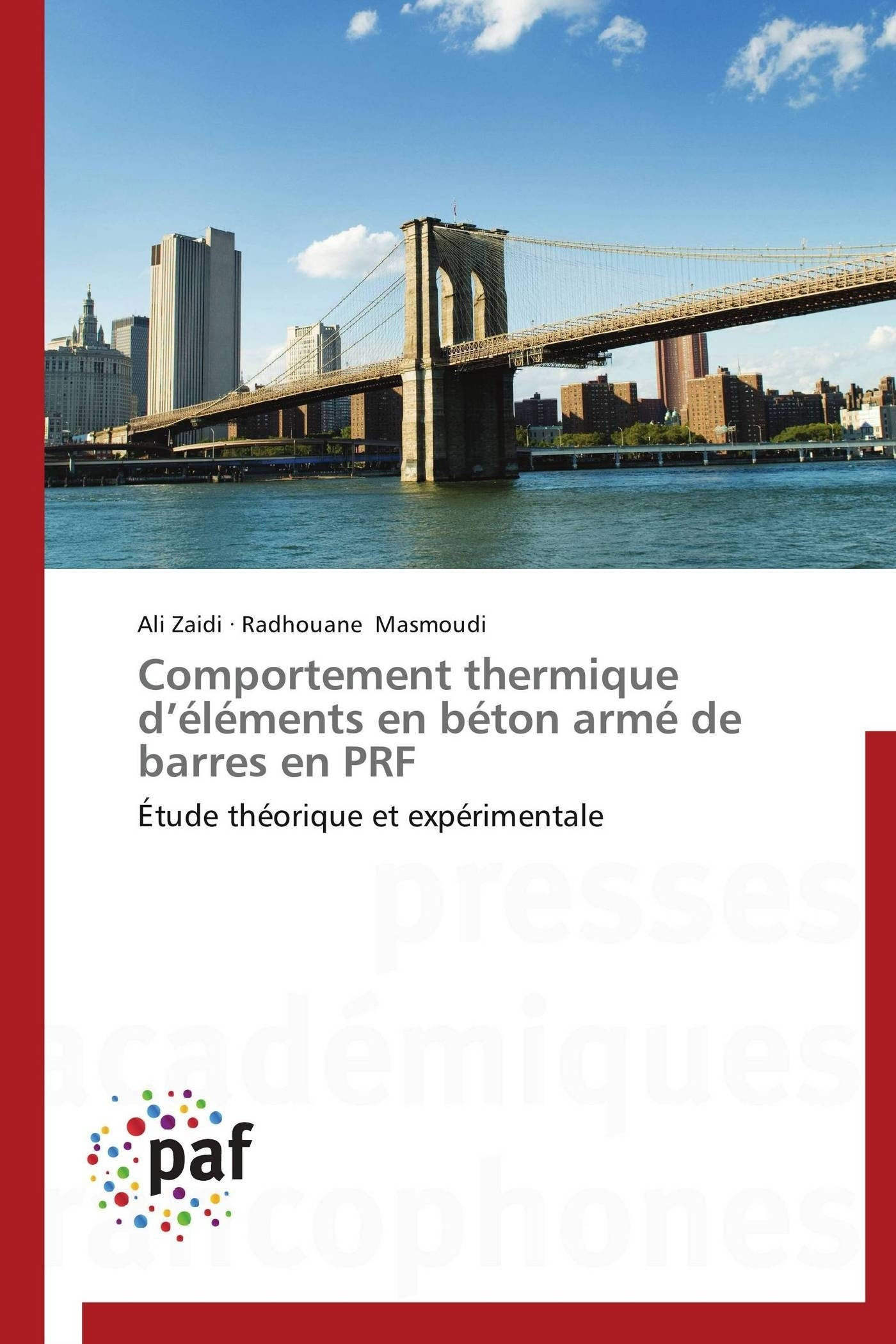 COMPORTEMENT THERMIQUE D ELEMENTS EN BETON ARME DE BARRES EN PRF