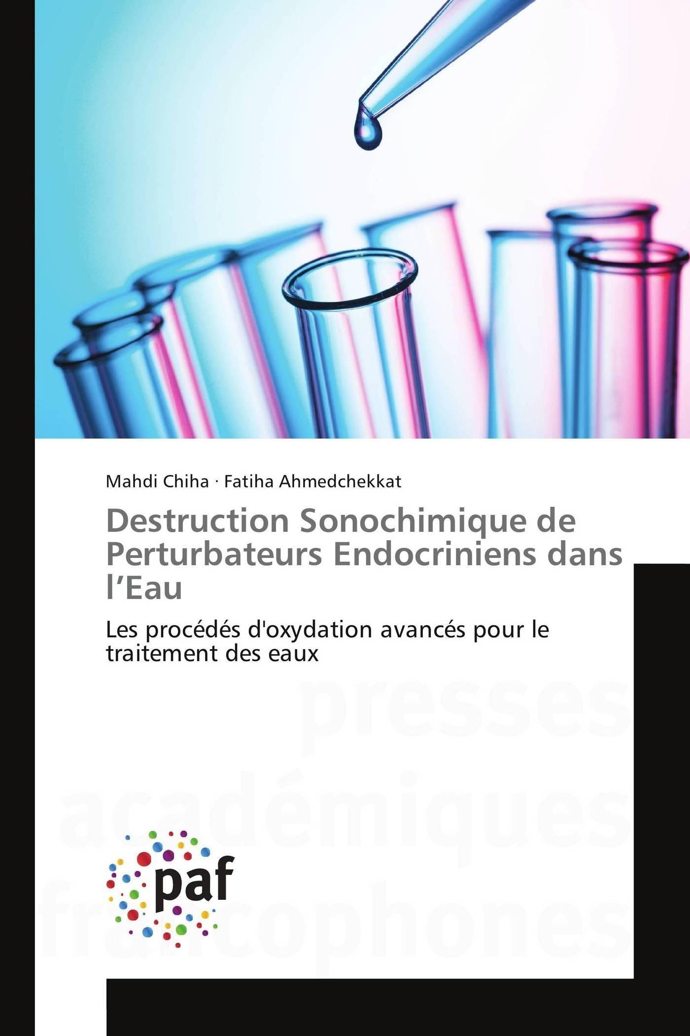 DESTRUCTION SONOCHIMIQUE DE PERTURBATEURS ENDOCRINIENS DANS L EAU