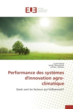 PERFORMANCE DES SYSTEMES D'INNOVATION AGRO-CLIMATIQUE