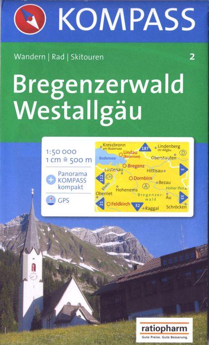REGENZERWALD/WESTALLGAU  2  1/50.000