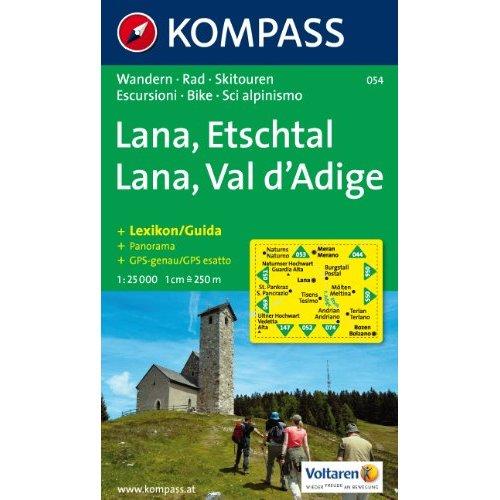 LANA/ETSCHTAL/VAL D'ADIGE 054  1/25.000