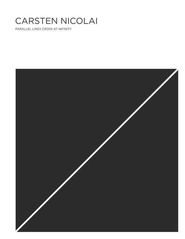 CARSTEN NICOLAI PARALLEL LINES CROSS AT INFINITY /ANGLAIS
