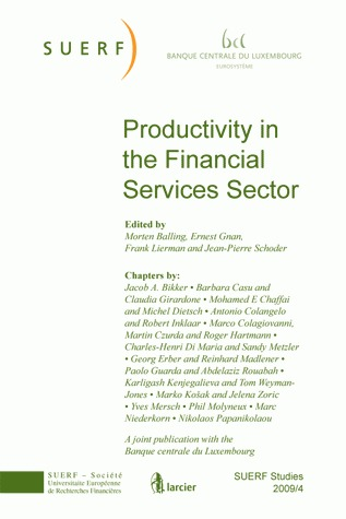 SUERF STUDIES -  2009/4 PRODUCTIVITY IN THE FINANCIEL SERVICES SECTOR