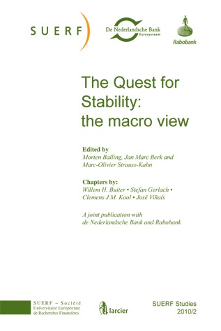SUERF STUDIES 2010/2 THE QUEST FOR STABILITY: THE MACRO VIEW