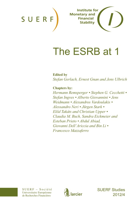 SUERF STUDIES 2012/4 THE ESRB AT 1