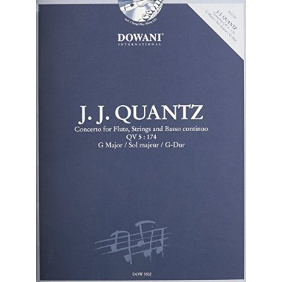 CONCERTO FOR FLUTE, STRINGS AND BC QV 5 : 174 IN G FLUTE TRAVERSIERE +CD