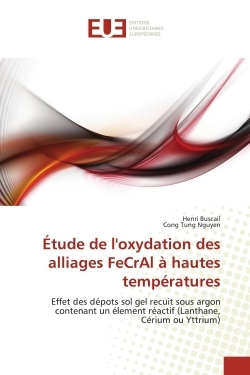 ETUDE DE L''OXYDATION DES ALLIAGES FECRAL A HAUTES TEMPERATURES