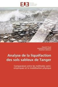 ANALYSE DE LA LIQUEFACTION DES SOLS SABLEUX DE TANGER