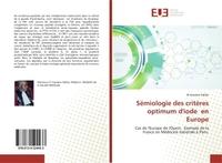 SEMIOLOGIE DES CRITERES OPTIMUM D'IODE EN EUROPE - CAS DE L'EUROPE DE L'OUEST. EXEMPLE DE LA FRANCE