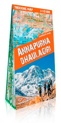 ANNAPURNA & DHAULAGIRI (ANG) (CARTE DE TREK LAMINE