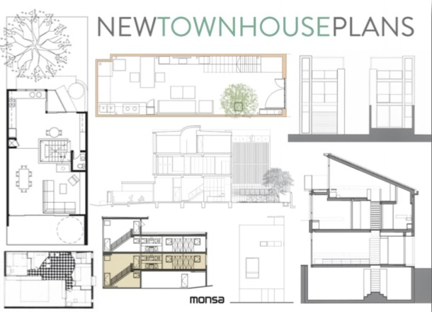 NEW TOWN HOUSES PLANS