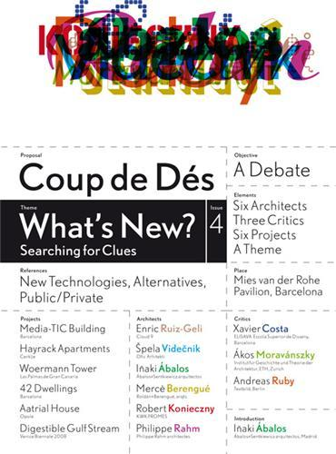 COUP DE DES 4 WHAT'S NEW ? SEARCHING FOR CLUS