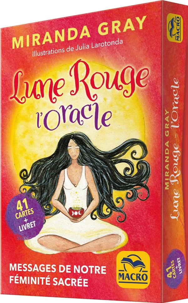 LUNE ROUGE - L' ORACLE - 41 CARTES + LIVRET. MESSAGES DE NOTRE FEMINITE SACREE