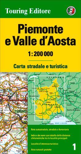 PIEMONTE / VAL D'AOSTA  1/200.000 (IT)