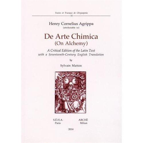 DE ARTE CHIMICA (ON ALCHEMY)