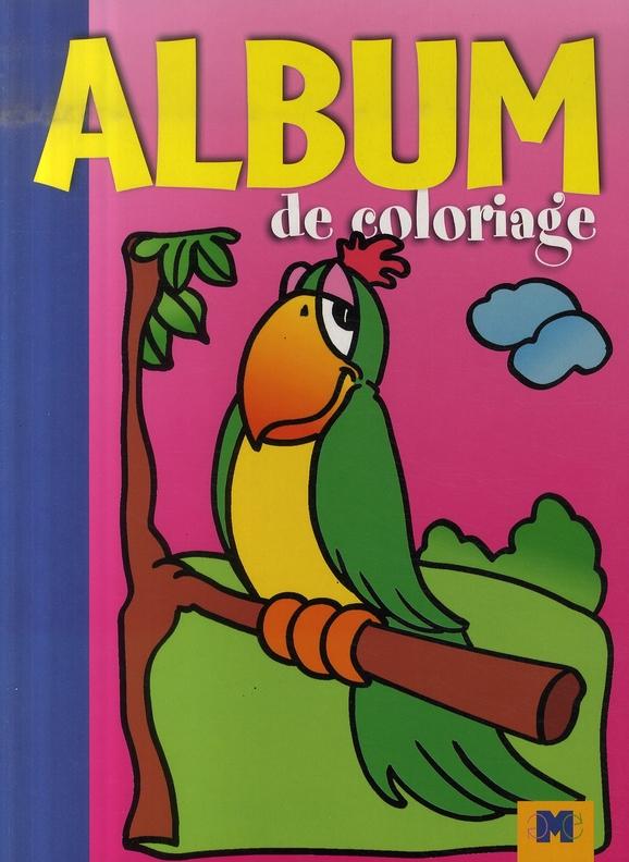 ALBUM DE COLORIAGE PERROQUET