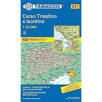 CARSO TRIESTINO E ISONTINO 047  1/25.000