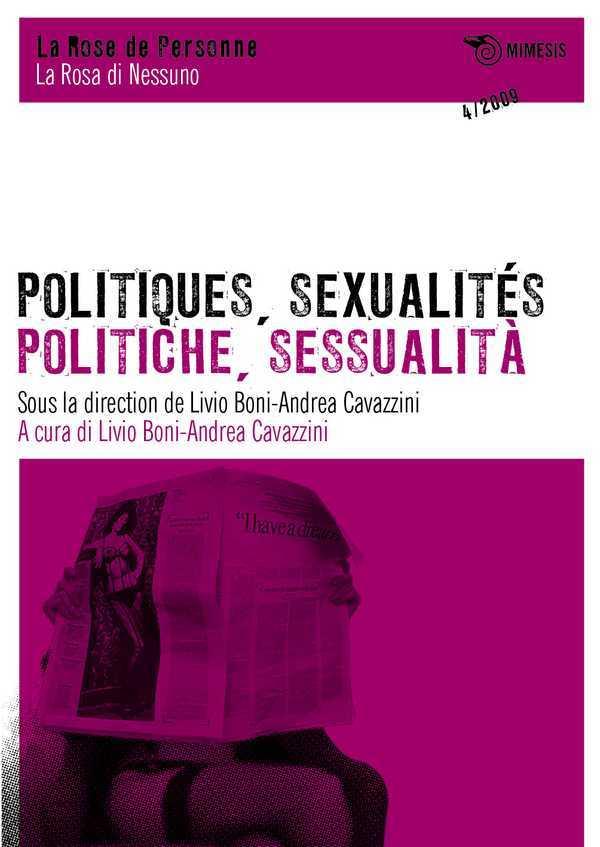 POLITIQUES, SEXUALITES