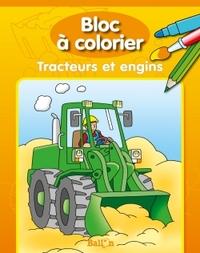 BLOC A COLORIER TRACTEURS ET ENGINS