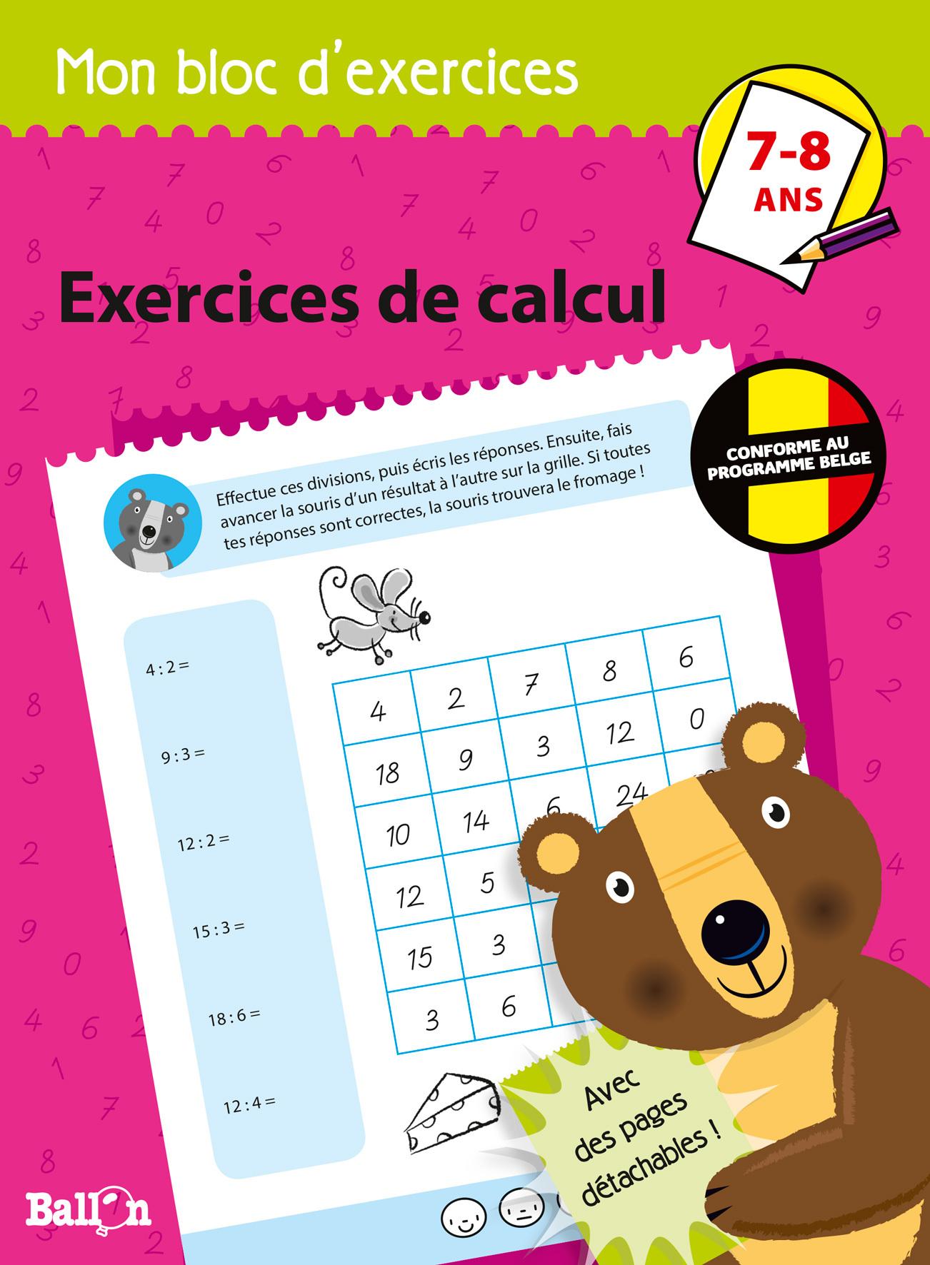 EXERCICES DE CALCUL 7-8 ANS
