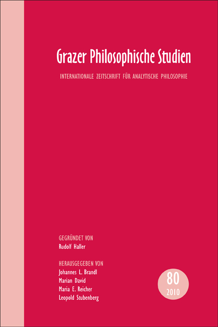 GRAZER PHILOSOPHISCHE STUDIEN, VOL. 80 - 2010
