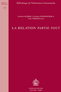 LA RELATION  PARTIE-TOUT