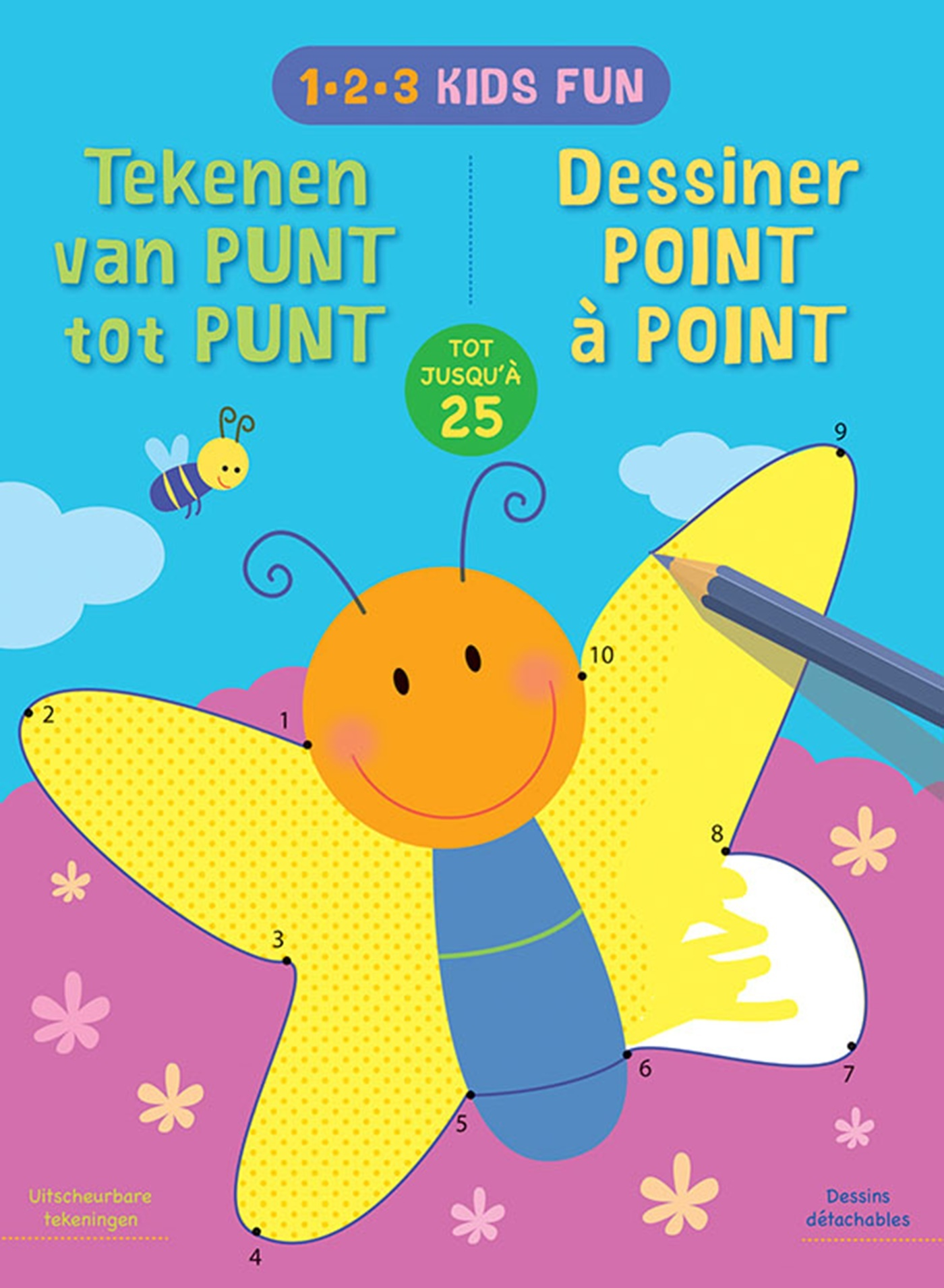 1-2-3 KIDS FUN - DESSINER POINT A POINT JUSQU'A 25