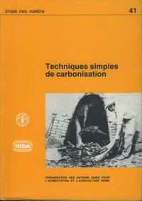 TECHNIQUES SIMPLES DE CARBONISATION ETUDES FAO FORETS N  41