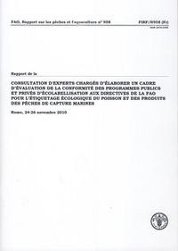 RAPPORT DE LA CONSULTATION D'EXPERTS CHARGES D'ELABORER UN CADRE D'EVALUATION DE LA CONFORMITE DES P