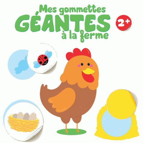 2+ COQ MES GOMMETTES GEANTES A LA FERME