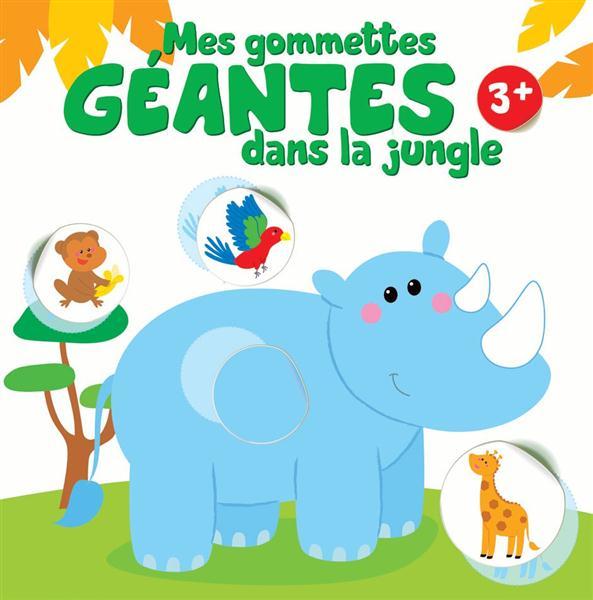 GOMMETTES GEANTES DANS LA JUNGLE 3 ANS ET PLUS