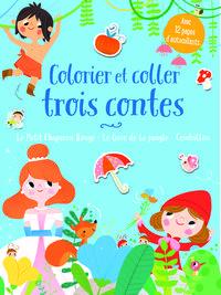 COLORIER ET COLLER TROIS CONTES BLEUS