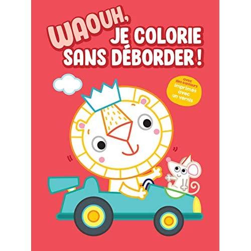 WAOUH JE COLORIE SANS DEBORDER ! - LION