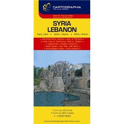 SYRIE LIBAN (CARTE CARTOG)