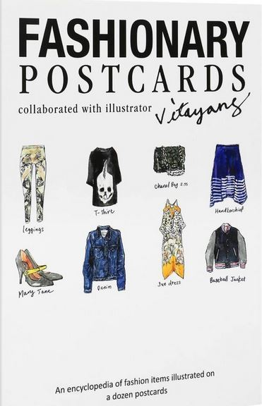 FASHIONARY POSTCARD BOOK ILLUSTRATION BY VITA YANG /ANGLAIS