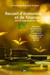 RECUEIL D ECONOMIE ET DE FINANCE, DETTE LIBANAISE ET TVA