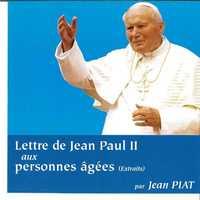 CD LETTRE JEAN PAUL II AUX PERSONNES AGEES