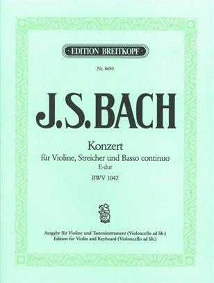 VIOLINKONZERT E-DUR BWV 1042 VIOLON