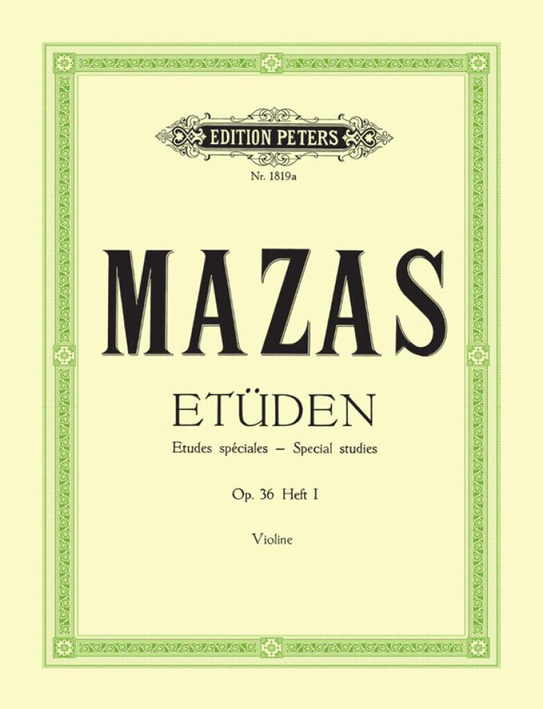 ETUDES SPECIALES 1 OP.36 VIOLON