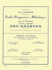 JEANJEAN: 20 ETUDES PROGRESSIVES ET MELODIQUES VOLUME  1 CLARINETTE