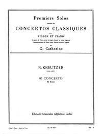 RODOLPHE KREUTZER: SOLO NO.1 FROM CONCERTO NO.9 IN E MINOR (VIOLIN & PIANO)