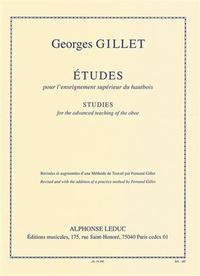 GEORGES GILLET - ETUDES POUR L ENSEIGNEMENT SUPERIEUR DU HAUTBOIS