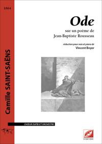 ODE, POUR CHOEUR (SATB) ET ORCHESTRE (REDUCTION CHANT-PIANO)